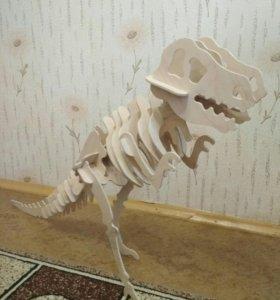 Игрушка конструктор динозавр