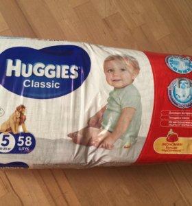 Хаггис 5 huggies classic подгузники