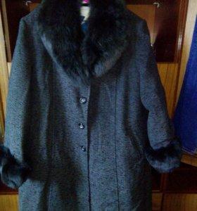 Зимнее пальто новое 64-66