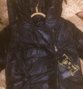 Женская тёплая куртка на синтепоне НОВАЯ р.44
