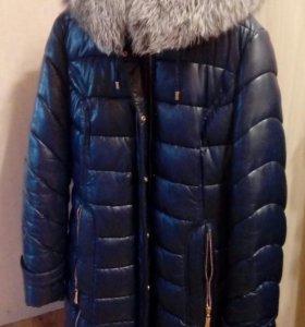 Куртка эко кожа натуральный мех