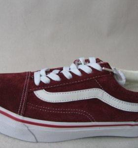 Кеды Vans Old School Skool Замша Бордо 44