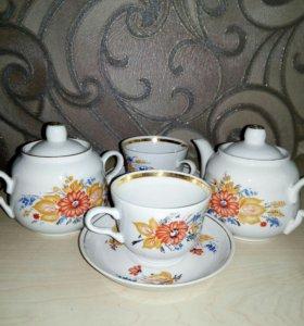 Чайный сервиз на две персоны 1-й сорт Россия