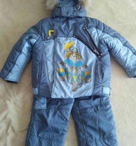 Комплект зимний комбинезон и куртка р.110