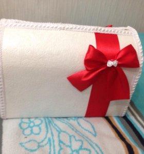Свадебная коробка для сбора денег