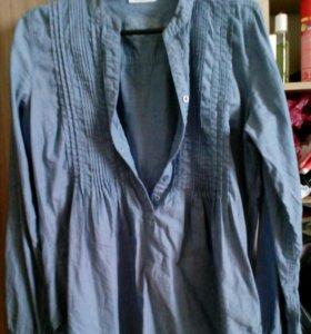 Блузка - рубашка х/б для беременных.