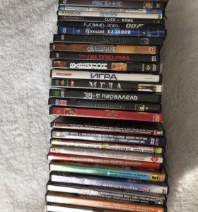 DVD фильмы+чистые диски