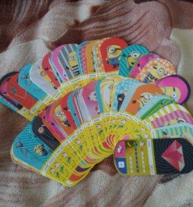 Карточки гадкий я 3( миньоны)