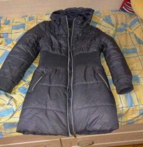 Пальто зимнее б/у для девочки