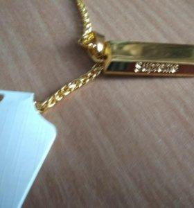 Цепь Supreme слиток золота