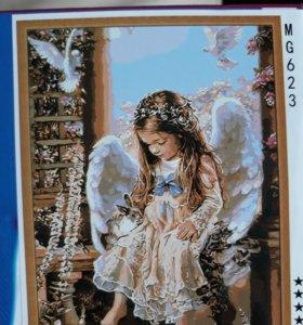 Набор для раскрашивания по номерам, рисунок Ангел