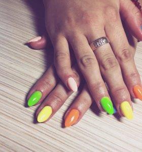 Наращивание ногтей, гель-лак