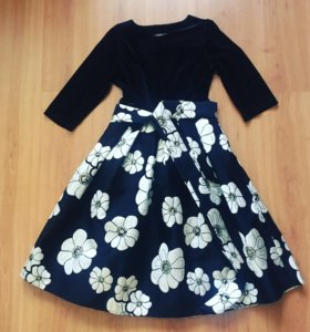 Новое велюровое платье
