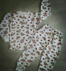 Пижамы новые с начесом от 2 до 6 лет