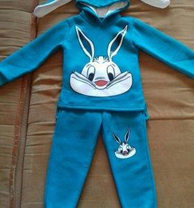 Новый тёплый костюм на флисе