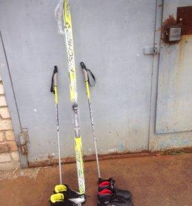 Лыжи fisher Австрия + две пары ботинок