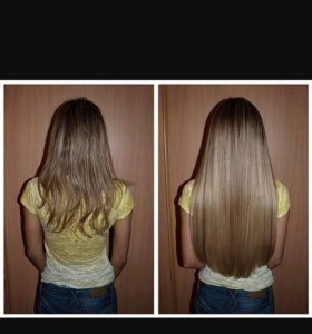 Наращивание волос, окрашивание .