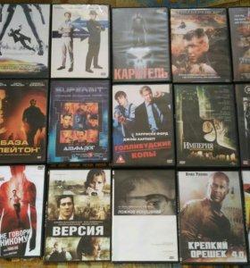 DVD диски, с фильмами, 100 штук