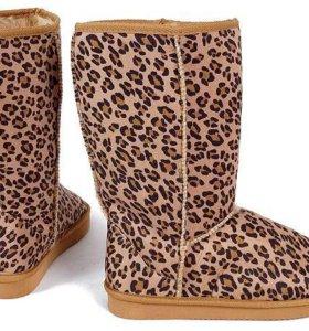 Леопардовые новые угги