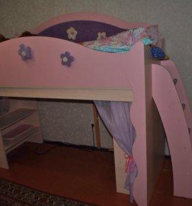 Кровать-чердак Цветочная фея