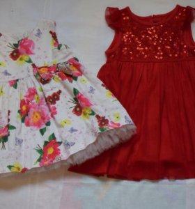 Нарядное платье для малышки(6-12мес)
