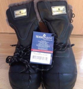 Ботинки мужские кожаные Неогард, меховые