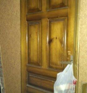 Дверное полотно, натуральное дерево.