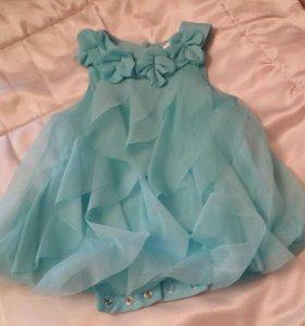 Платье-боди праздничное до 86см