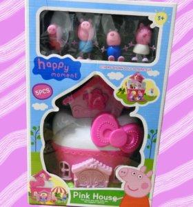 Свинка Пеппа, домик и её друзья
