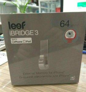 Абсолютно новый!!! Флеш-драйв LEEF iBridge3 64Gb