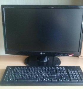 Системный блок+монитор+клавиатура