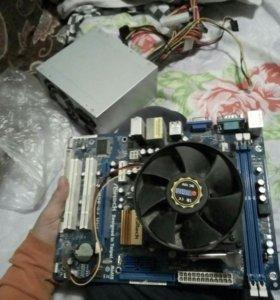 Продам илиобменяю Материнка с кулером и процесором