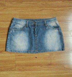 Юбка мини джинсовая за шоколадку