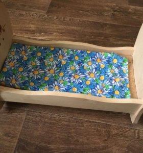 Кукольная деревянная кроватка