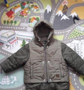 Куртка зимняя с жилеткой на рост 98