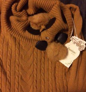 Пуловер-туника-платье