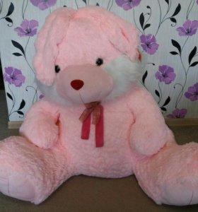Мягкая игрушка Заяц (розовый)