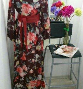 Дизайнерское платье в пол