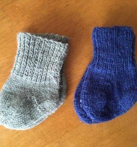 Носки шерстяные вязаные детские