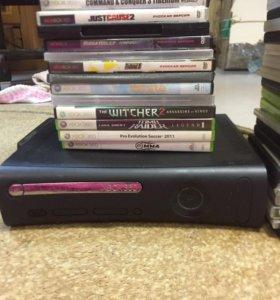 Xbox 360 pro-120gb-много игр