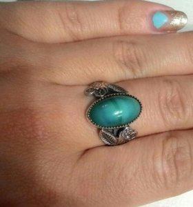 Кольцо серебро 875 проба