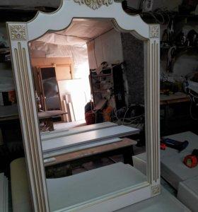 Зеркало ( натуральное дерево)