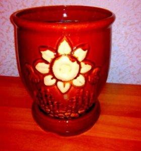 Цветочный горшок керамика большого размера