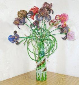 Цветы из бисера Ирисы