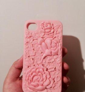 Продам силиконовый чехол на iPhone 4,4s .