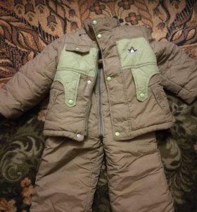 Куртка со штанами на натуральной овчине