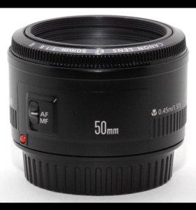 Объектив Canon 50 mm EF
