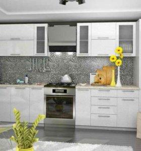 Мод. кухня Олива вариант-2 Белая 3-метра