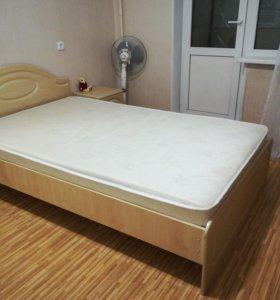 Кровать МДФ 1.2*2.0 с матрасом
