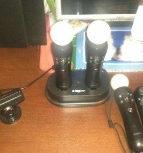 Мувы 4 штуки, зарядное устройство, камера- для рs3